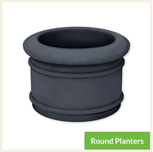 Round Self-Watering Planters for Landscaping