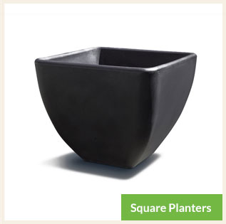 Square Self Watering Commercial Planters