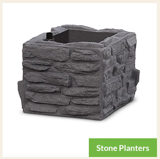 Stone Planters for Municipal Landscaping
