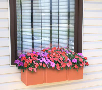 Walkway Self Watering Planter - Walkway Self Watering Planter - window planter