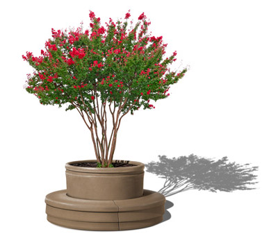 Windsor Self Watering Tree Planter with bench