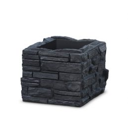 Sierra Stone Self Watering Planter - black - municipal, commercial and residential use - polyethylene container