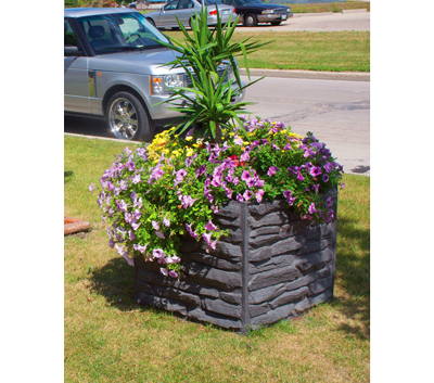 Sierra Stone Self Watering Planter - location at Equinox