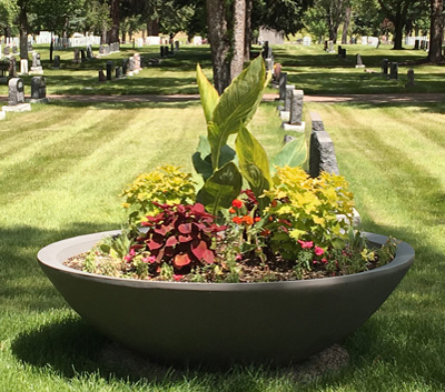 Manor Self Watering Planter Medicine Hat cemetery