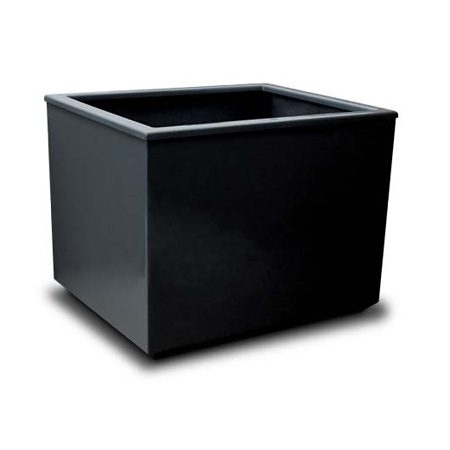 Boundary self-watering fibreglass planter -black - Boundary Fibreglass container - Commercial use