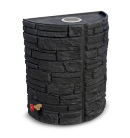 Sierra Stone 55 Rain barrel - Black