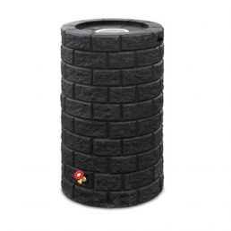 Brickworks Rain Barrel - black - commercial and residential use - polyethylene container