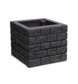 Brickworks Self Watering Planter - black - municipal, commercial and residential use - polyethylene container