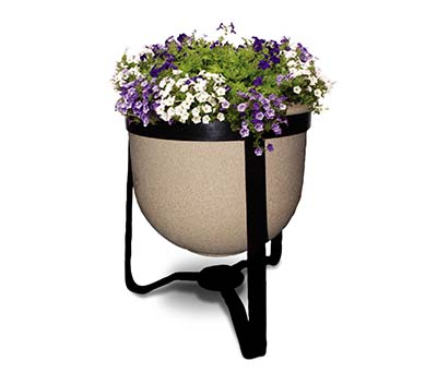 Gateway self watering planter with flowers