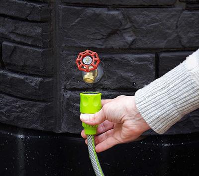 Sierra Stone Rain Barrel faucet