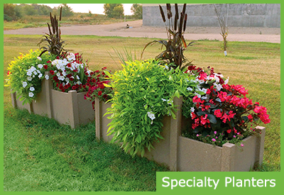 Specialty and Custom Professional Landscaping Planters