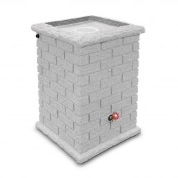Brickworks-Square-Rainbarrel---White-Granite