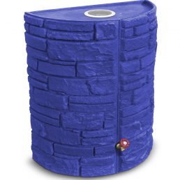Sierra Stone 55 Rain Barrel - Recycle Blue