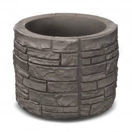 Sierra Stone Round - Dark Grey