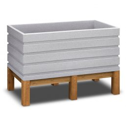 Vista-Raised-Garden-Box-48---White-Granite